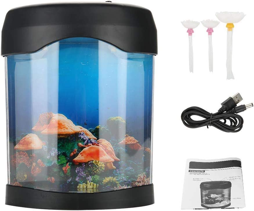 Bicaquu USB Aquarium Daily bargain sale Light Desk Mini LED Lighting Tank supreme Mood Fish
