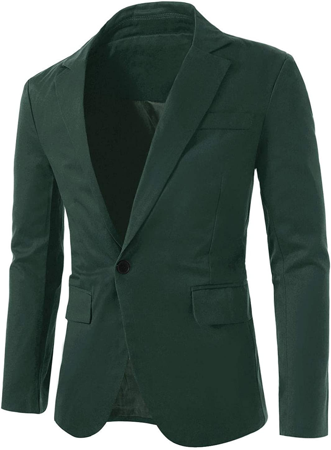 uxcell Men's Notched Lapel Button Slim Casual Fit Manufacturer In stock direct delivery Lightweight Sp