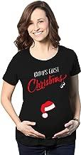 تي شيرتات Crazy Dog للحوامل مطبوع عليها Bumps First Christmas