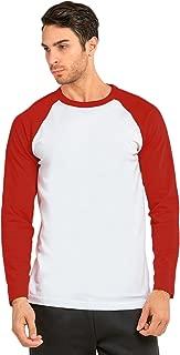 Knocker Men's Cotton Full Raglan Sleeve Baseball Tee Shirt