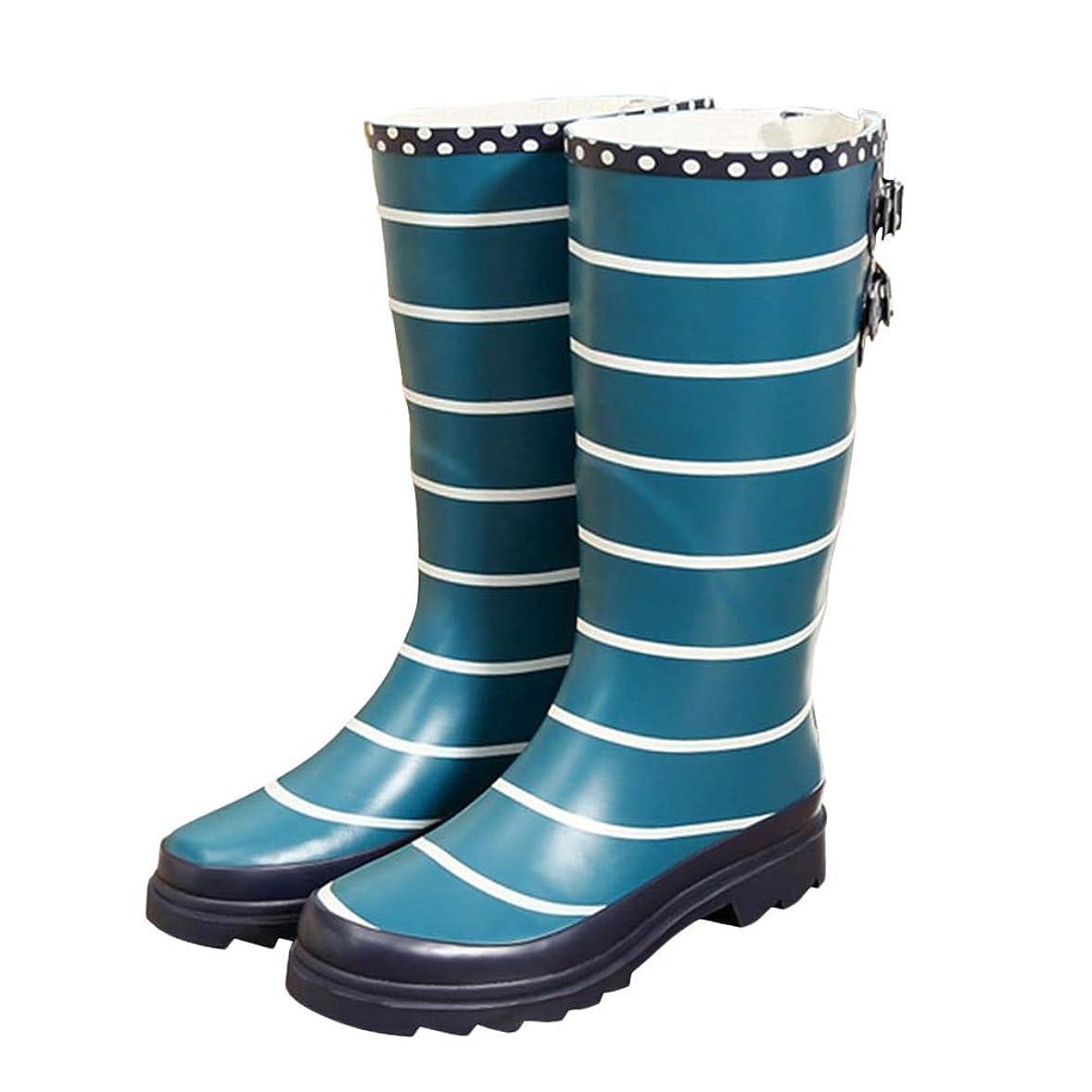 鼻章消毒剤[Cozy Maker] C&M レインブーツ レインシューズ レディース シューズ ブーツ 雨靴 雨の日 梅雨 可愛い 雨対策 防水 撥水 水作業 軽量 おしゃれ 飾りベルト付き