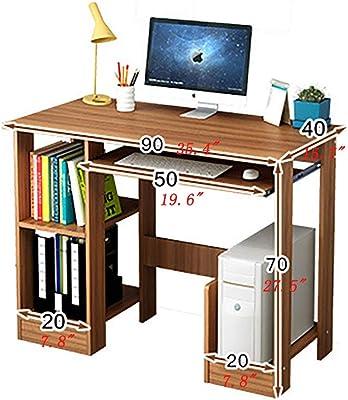 Amazon.com: Escritorio para ordenador de escritorio, mesa de ...