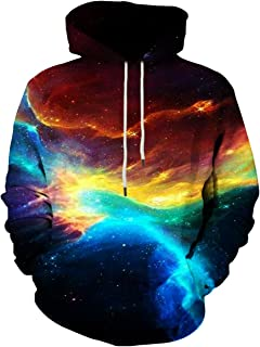 Unisex 3D Cool Printed Hoodies Personalized Hooded Sweater Sweatshirt with Big Pockets