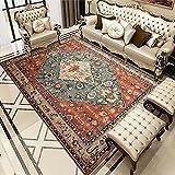 Alfombra moderna para salón (200 x 300 cm), para dormitorio de niños, de pelo corto, para sala de grandes cuadros de cama (alfombra EA55)