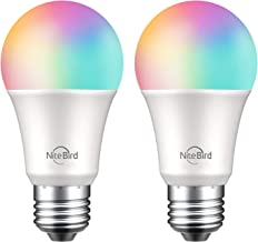 Smart Light Bulb,NiteBird Dimmable WiFi Bulbs Works with Alexa Echo and Google Home, RGB Color Changing LED Lights Bulbs, ...