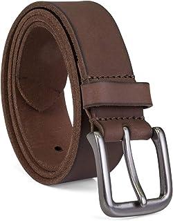 Timberland mens - Classic Leather Jean Belt Belt - Dark Brown - 38