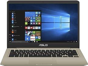 "ASUS K410UA-EB010R Vivo Book HD Laptop (Intel Core i7-8550U, 16GB RAM, 512GB SDD) Windows 10 Pro, 14"", Gold Metal"