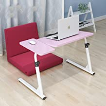 ZHI BEI Easy Bedside Laptop Table Folding Lazy People Table Bedside Sofa Table Desk Free Adjustable Height Color Optional ...