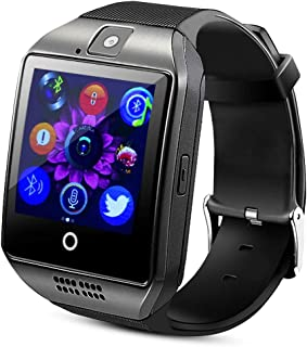 Bluetooth Smart Wrist Watch with Health Monitoring Calls Texts for Android and iPhone - Black