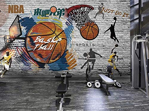 Papel Pintado Mural Baloncesto Deportes Fitness Pintura Decorativa Gimnasio Fondo Pared Foto Papel Pintado