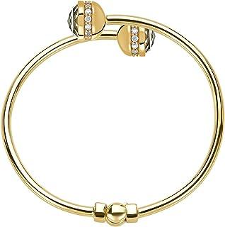 سوار ذهبي من مجوهرات دي بي دبليو للنساء - سحر اختياري - مفصل مفتوح، 16.5 سم إلى 17.78 سم - سوار ساحر للبنات - نمط يومي
