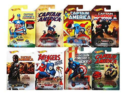 Mattel Hot Wheels djk75 – Captain America [***Modèle aléatoire***] [***Assortiment de 8 modèles***]