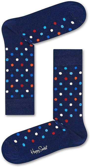 Happy Socks Men's Dot Sock, Multicoloured, 36-41