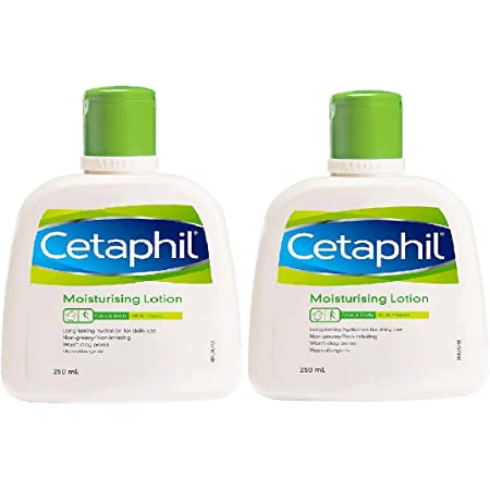 Cetaphil Moisturizing Lotion For Sensitive Or Dry Skin - 250 Ml Each (Pack Of 2)