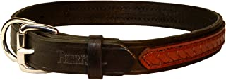 Perri's Md Black/Brown Leather Overlay Dog collar