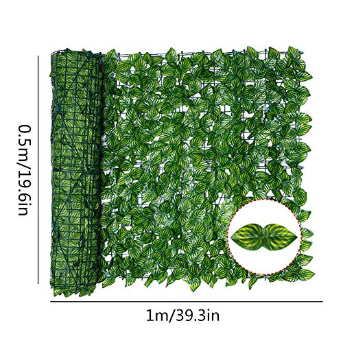 likeitwell 0.5m X 1m Artificial Plastic Hedge Garden Fence Screening Roll Privacy Border Wind/Sun Protection