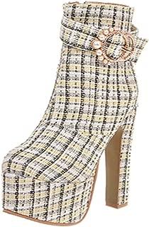 MisaKinsa Women Sexy Platform Boots Evening Club High Heels