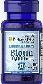 Biotin 10,000mcg-100 Softgels-puritan's Pride