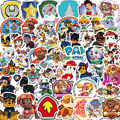 BLOUR 50 Cute Puppy Wangwang Team Stickers Cartoon Notebook Stationery Water Cup Mobile Phone Suitcase Waterproof Sticker