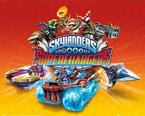 1art1 Skylanders - Superchargers, Charaktere Mini-Poster 50 x 40 cm