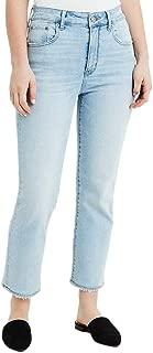 American Eagle Womens 1913980 Slim Straight Crop Jean, Iced Light Indigo