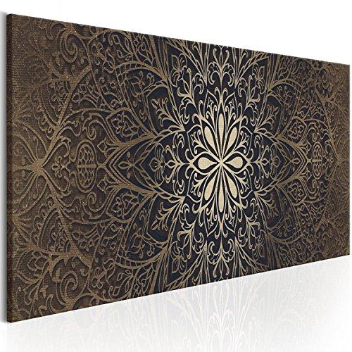 murando - Bilder Mandala 120x40 cm Vlies Leinwandbild 1 TLG Kunstdruck modern Wandbilder XXL Wanddekoration Design Wand Bild - Orient Zen f-A-0491-b-b