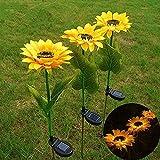 Solar Sunflower lamp,Garden Solar Lights Outdoor Decorative Sunflower (Pack-1) Decor Solar Pathway Lights Outdoor LED Solar Garden Lights Waterproof Solar Landscape Lights for Lawn Patio Yard Garden