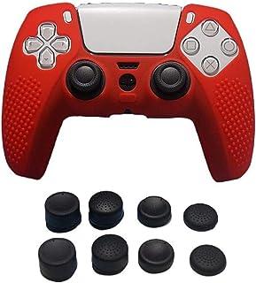 Ninguno / funda de silicona de marca antideslizante para controlador PS5 X 1+ empuñaduras de pulgar X 8 Siutable para cont...