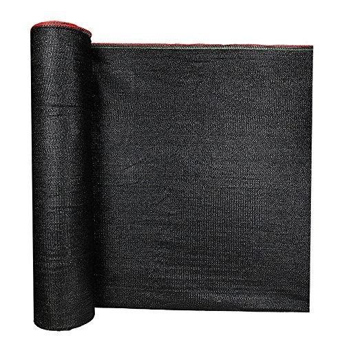 HUO Filet D'ombrage, Tissu D'ombrage, Maille D'isolation D'ombrage, Auvent De Couverture Multifonctionnel (Couleur : Noir, Taille : 2 * 100m)
