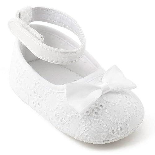 af0bf5f18580 OOSAKU Baby Girls Infant Toddler Christening Baptism Shoes Anti-Slip  Sneakers