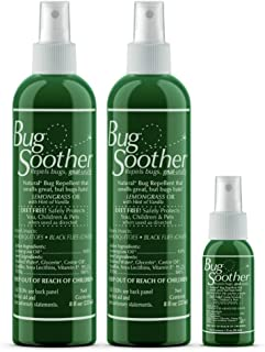 Bug Soother Natural Insect, Gnat and Mosquito Repellent (2, 8oz.) – DEET Free..