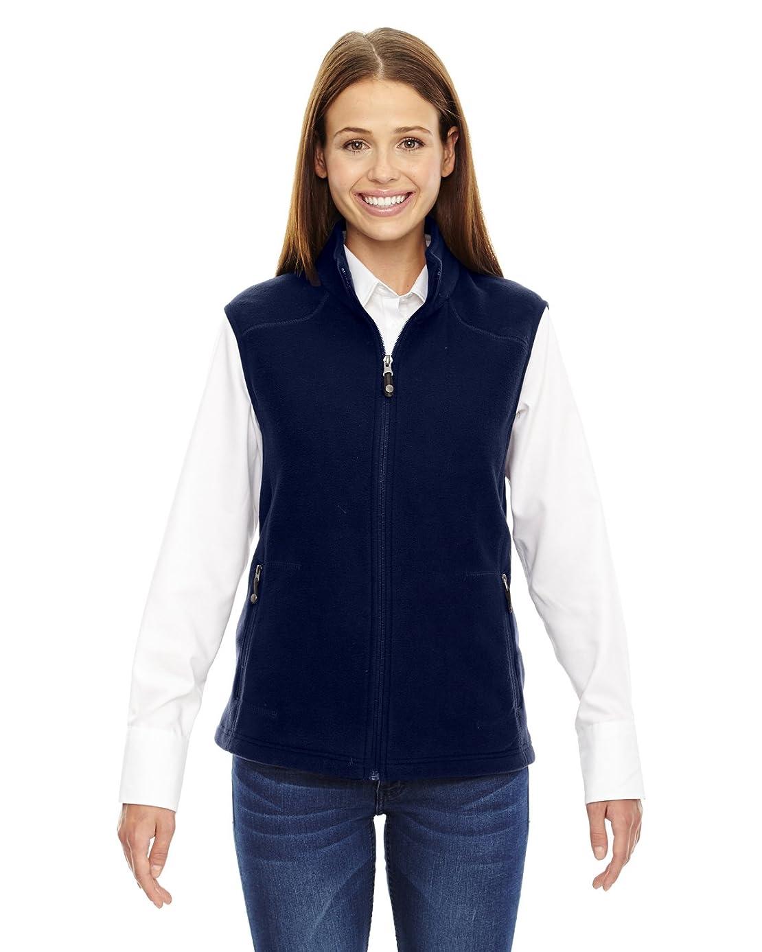 North End Womens Voyage Fleece Vest (78173) -CLASSIC NAVY -S
