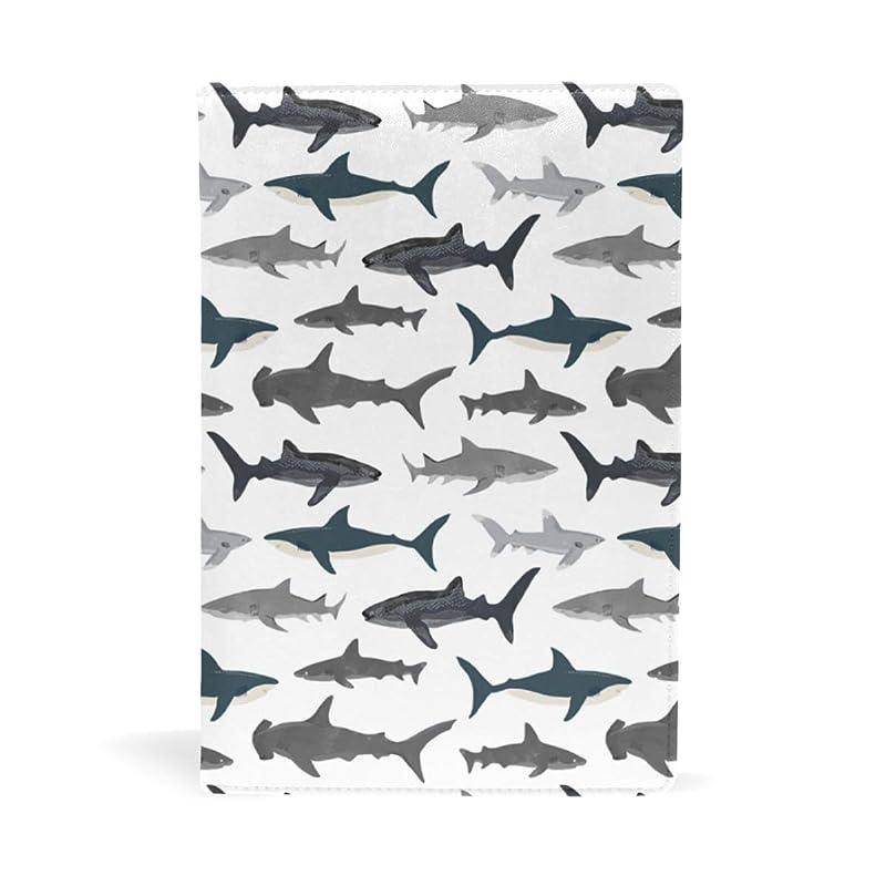 誰するだろうハウジングサメ柄 ブックカバー 文庫 a5 皮革 おしゃれ 文庫本カバー 資料 収納入れ オフィス用品 読書 雑貨 プレゼント耐久性に優れ