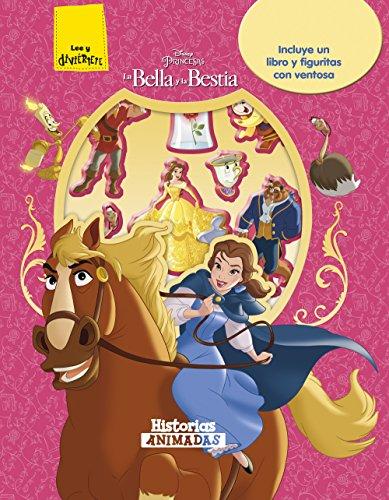 La Bella y la Bestia. Historias animadas: Incluye un libro y figuritas con ventosa