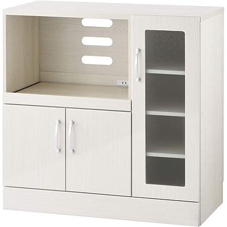 ぼん家具 キッチンキャビネット レンジボード 食器棚 カップボード キッチン ホワイト