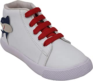 D'chica High Ankle Dolphin Motif Shoes for Boys Sneakers