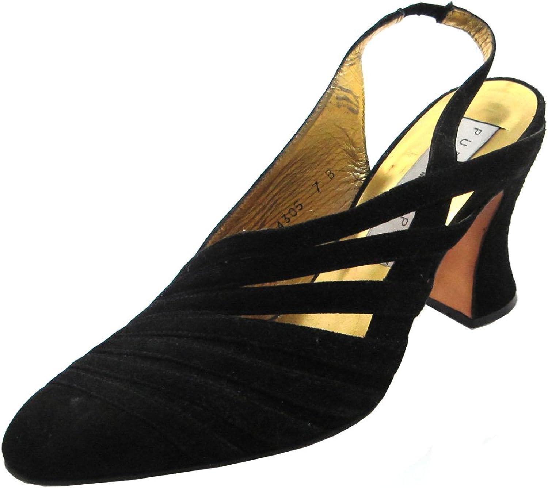 Pura Lopez 6099 Women's Dress Casual Low Heel Closed Toe Open Back shoes