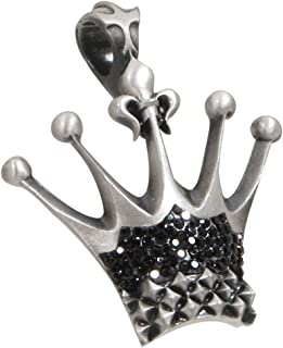 Kingdom Studded Crown Necklace Pendant with Swarovski Crystals