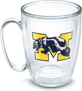 Tervis 1048814 Michigan University Vault Emblem Individual Mug, 16 oz, Clear