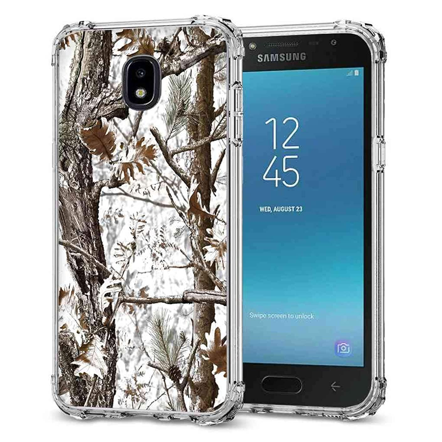 for Galaxy J7 2018 Camo Case, BAYKE Slim TPU Bumper Protective Cover with Reinforced Corners for Samsung Galaxy J7 2018/Galaxy J7 Refine/Galaxy J7 V 2nd Gen/Galaxy J7 Top/J7 Star/J7 Aero/J7 Crown