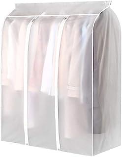 Festnight Housses de Vêtements, Housse pour Costume, Penderie Protection Pliable Sac de Vêtement, Protection Transparentes...