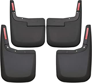 Husky Liners 58446 Black Custom Mud Guards Front and Rear Mud Guard Set Fits 2015-2019 Ford F-150 WITHOUT OEM Fender Flares