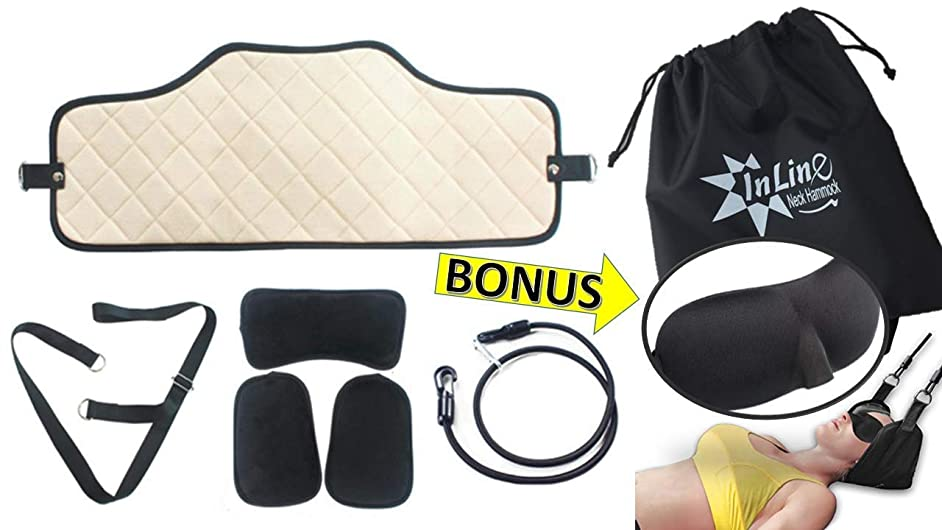 Neck Traction - Cervical Neck Traction Device - Portable Pillow Head Support Sling for Neck & Shoulder Tension - High Quality Relaxation Decompression Stretcher - Neck Pain Relief