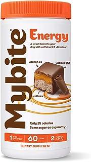 Mybite Energy Chocolate Vitamin, 60 Bites, Vitamin B6, B12, Caffeine, Energy Supplement