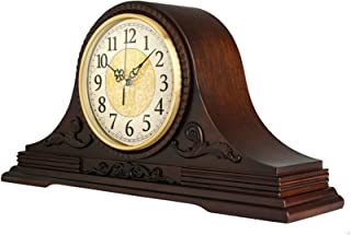 Chimney klockor, trä skorsten klocka klocka den dekorativa skorstenen är en solid trä hylla som kör med batterier fräsch k...