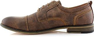 حذاء أكسفورد كاجوال من Ferro Aldo MFA19619L تريفور كلاسيك كاب تو برباط مبطن من الجلد بمقدمة مستديرة