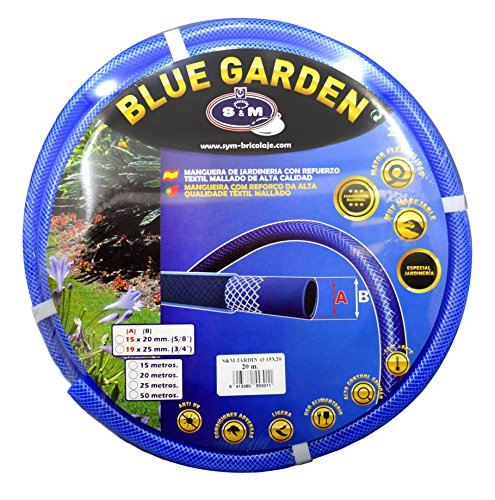 S&M 553011 Manguera de jardinería Reforzada Blue Garden, Azul, Rollo 20...