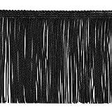 Expo International 5 Yards of 4' Chainette Fringe Trim, Black