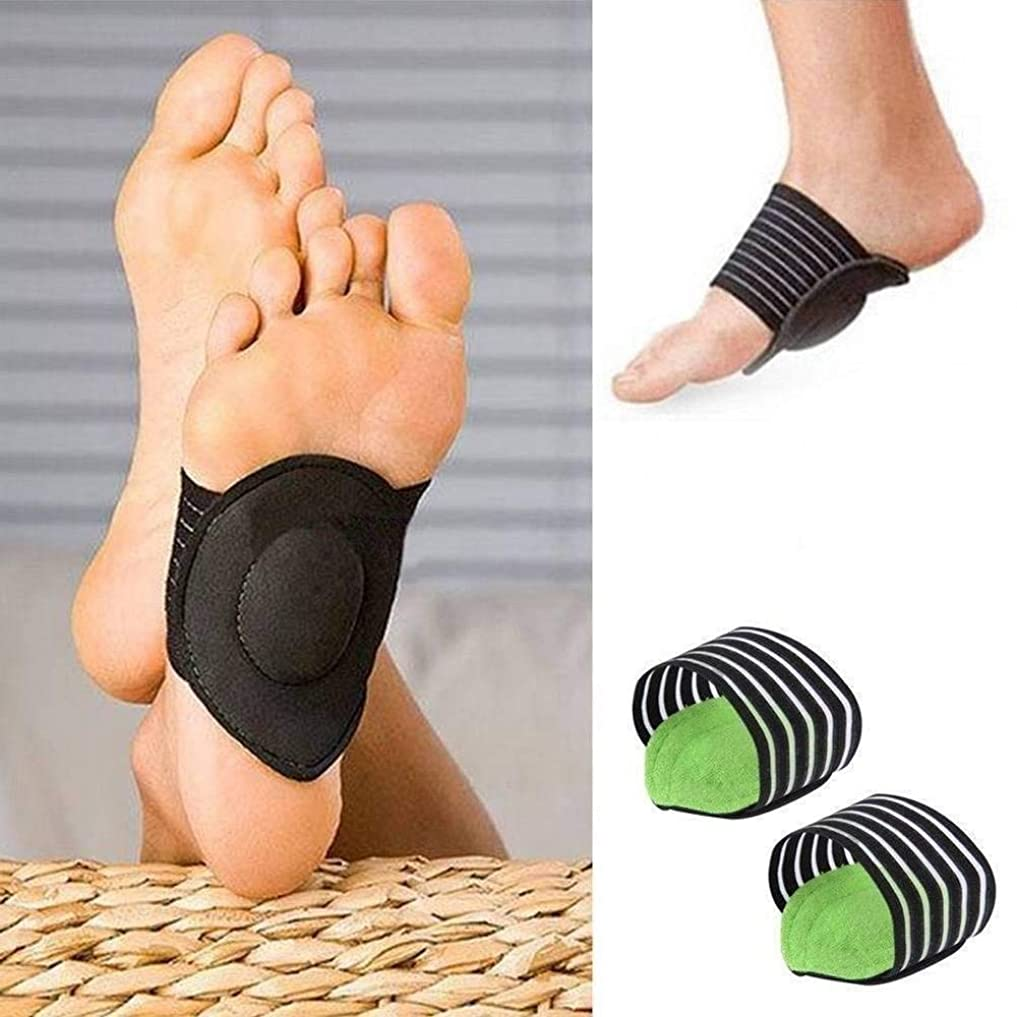 ストレッチ朝ごはん何かFANPING もっと足底筋膜炎のためのパッド入りのコンフォート、リベンジアーチ、(男性と女性のための)ヒールスパーズ、フラットとうずく足Problems- 1ペアと厚いクッション性アーチサポートの保護パッド