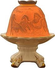 Aliyyah Perfect Porcelain Handmade Tealight Candle Holder Lantern Running Horse